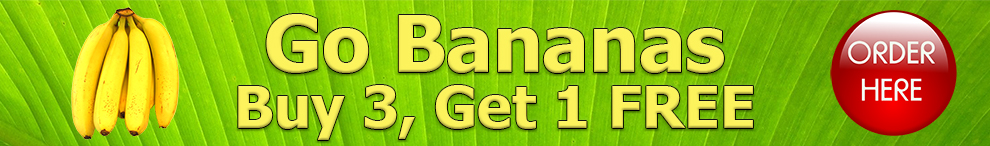 Banana Pack, buy 3 get 1 free