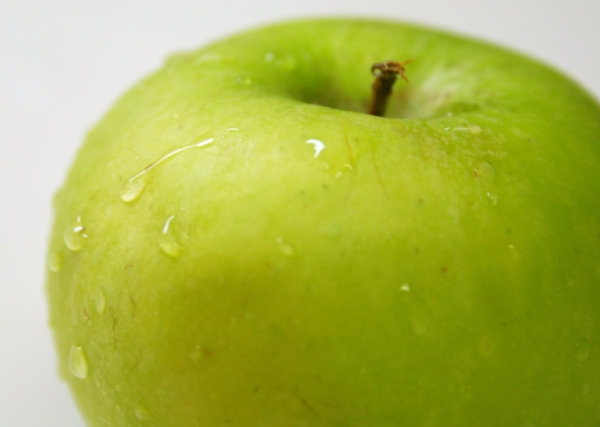 Granny Smith Apple close up By