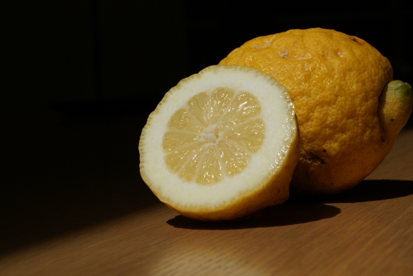 Lisbon Lemon Fruit Cut Open