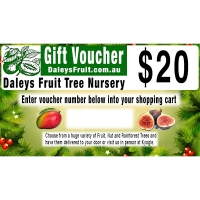 20 dollar Christmas Gift Voucher for Daleys Fruit Tree Nursery Australia By DaleysFruit.com.au [All Rights Reserved]