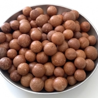 Picture of the Macadamia nuts that are ready to be cracked open and eaten